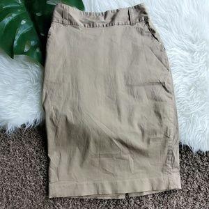Banana Republic Tan Khaki Pencil Skirt Sz 2